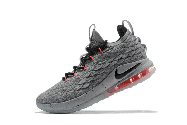 Cheap Wholesale Nike LeBron 15 Low Flight Pack Cool Grey Black-Teal Tint-Sunset Pulse AO1755-005 - www.wholesaleflyknit.com
