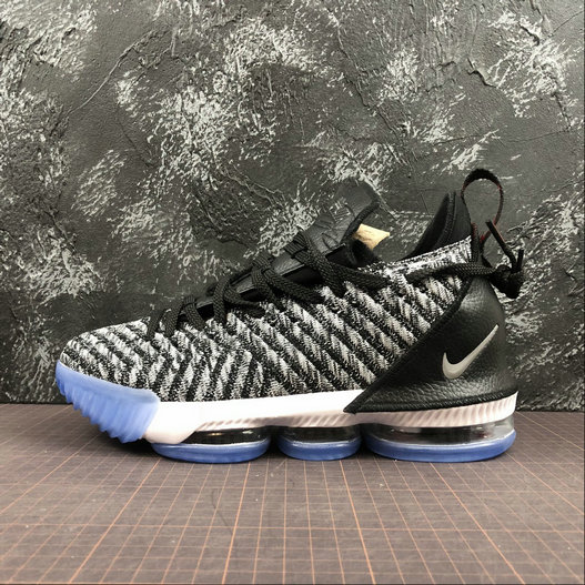 Wholesale Nike LeBron James XVI EP AO2595-006 Argent Metallique Blanc Noir Metallic Silver White Black-www.wholesaleflyknit.com