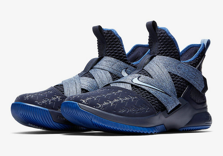 Cheap Wholesale Nike LeBron Soldier 12 AO2609-401 Blackened Blue Gym Blue - www.wholesaleflyknit.com