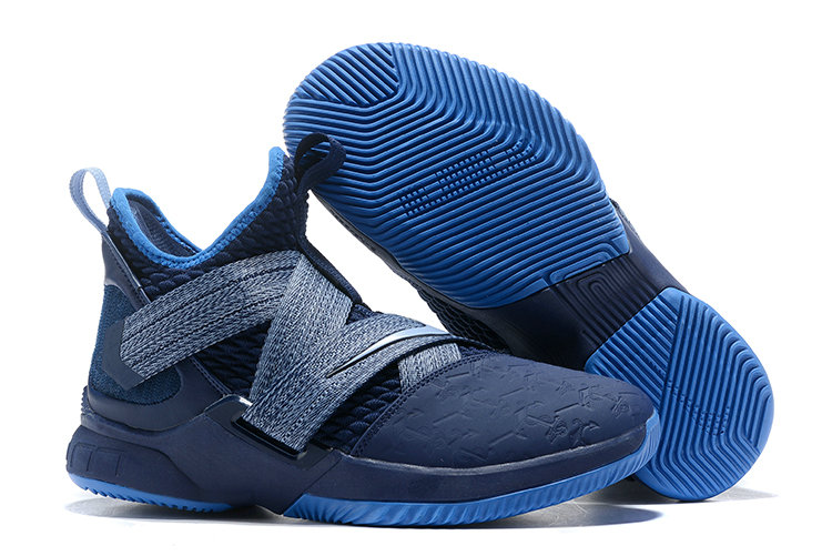777e78fdd2e8 Cheap Wholesale Nike LeBron Soldier 12 AO2609-401 Blackened Blue Work  Blue-Gym Blue
