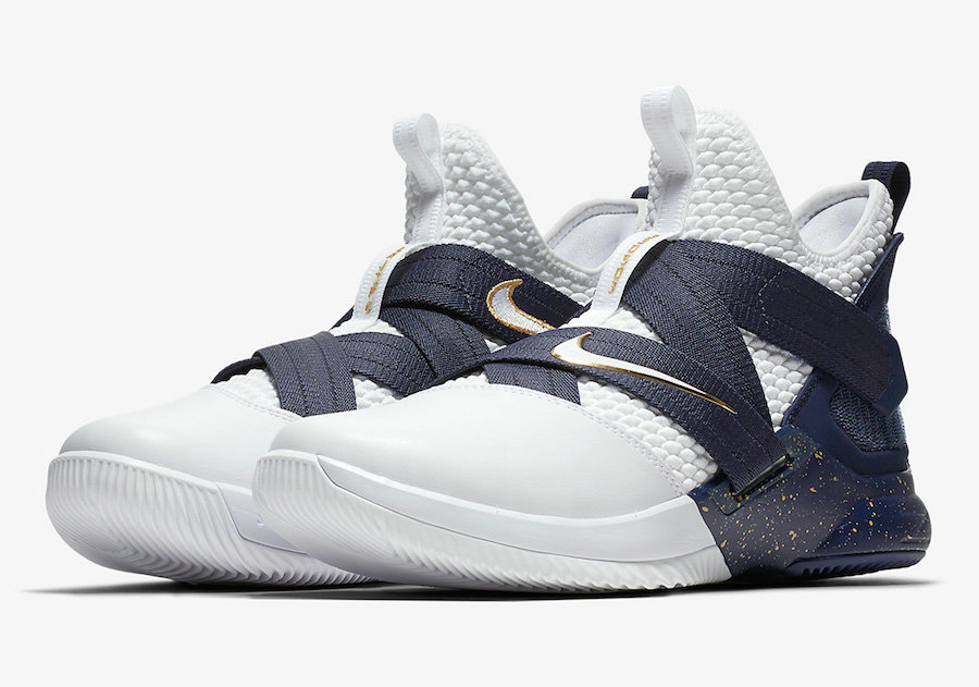 05d8d2a9f95 Cheap Wholesale Nike LeBron Soldier 12 AO4054-100 25 Straight White  Midnight Navy-Mineral