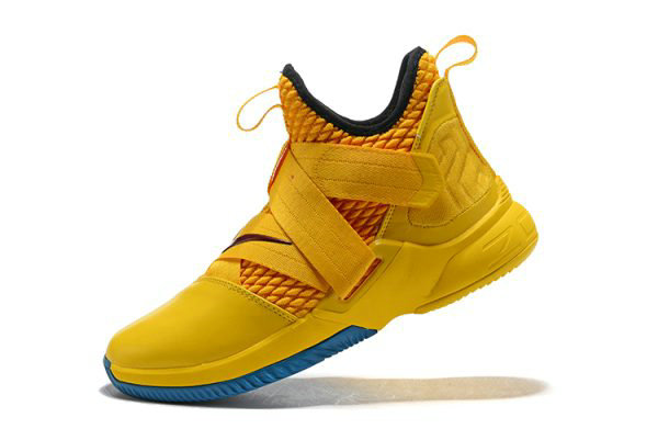 8958c9be213 Cheap Wholesale Nike LeBron Soldier 12 Cavs Yellow Black-Blue Mens  Basketball Shoes - www
