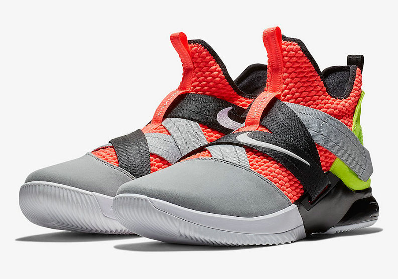 Cheap Wholesale Nike LeBron Soldier 12 SFG AO4054-800 Hot Lava Black-White - www.wholesaleflyknit.com