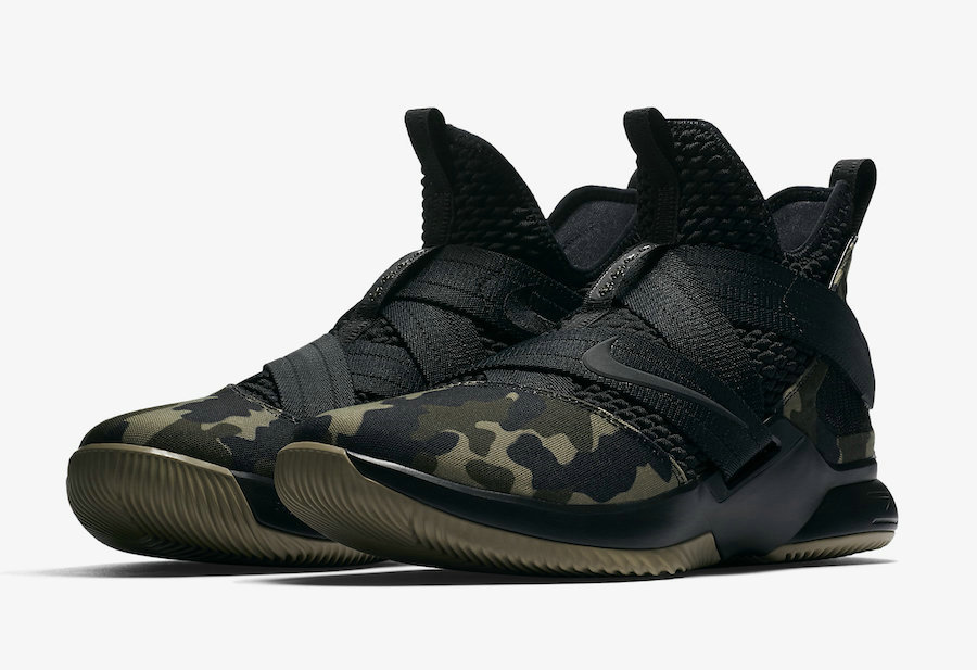 Cheap Wholesale Nike LeBron Soldier 12 SFG Camo AO4054-001 Black-Hazel Rush - www.wholesaleflyknit.com