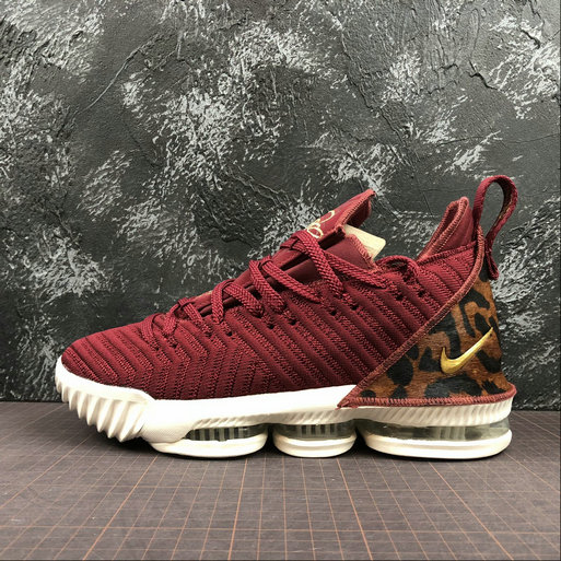Wholesale Nike LeBron XVI EP AO2595-601 Team Red Metallic Gold Multi Euqipe Rouge-www.wholesaleflyknit.com