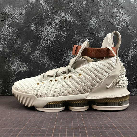 Wholesale Nike LeBron XVI LMTD BQ6583-100 Sail Light Bone White Voile Blanc OS Clair-www.wholesaleflyknit.com