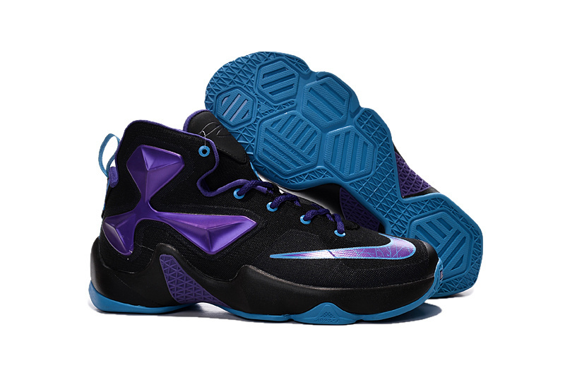 Wholesale Cheap Nike Lebron 13 Hornets Club Purple Black Vivid Blue For Cheap - www.wholesaleflyknit.com