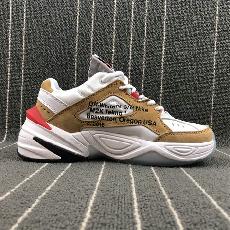 Wholesale Nike M2K Tekno x Off White  AO3108-200 Phantom Oil Grey Matte Silver Fantome Gris Petrole On www.wholesaleoffwhite.com
