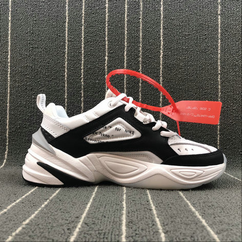 Wholesale Nike M2K Tekno x Off White AO3108-062 Black White Grey Noir Blanc Gris On www.wholesaleoffwhite.com