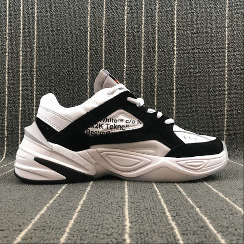 Wholesale Nike M2K Tekno x Off White AO3108-300 Phantom Grey Silver Fantome Gris Petrole On www.wholesaleoffwhite.com