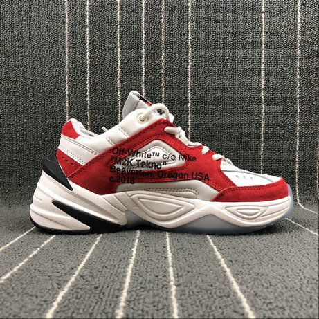 Wholesale Nike M2K Tekno x Off White AO3108-800 Phantome Oli Grey Matte Silver Fantome Griys Petrole On www.wholesaleoffwhite.com