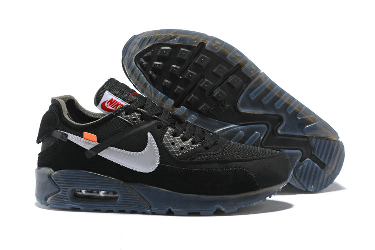 Wholesale Nike Off-White x Wholesale Nike Air Max 90 Cheap Mens Black Silver Grey On www.wholesaleoffwhite.com
