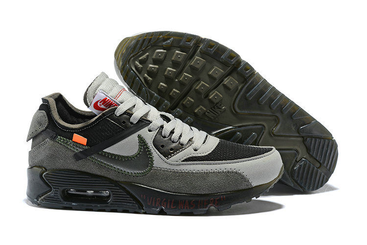 Wholesale Nike Off-White x Wholesale Nike Air Max 90 Cheap Mens Grey Black On www.wholesaleoffwhite.com