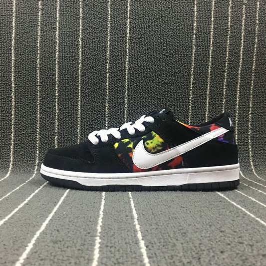 Wholesale Nike SB Dunk Low PRO IW Mens 819674-019 Black White Multi Color Noir Couleur Multiple Noir Bla-www.wholesaleflyknit.com