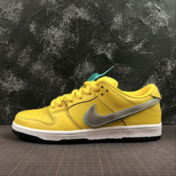 Wholesale Nike SB Dunk Low PRO OG Mens BV1310-700 Yellow Silver Jaune Argent-www.wholesaleflyknit.com