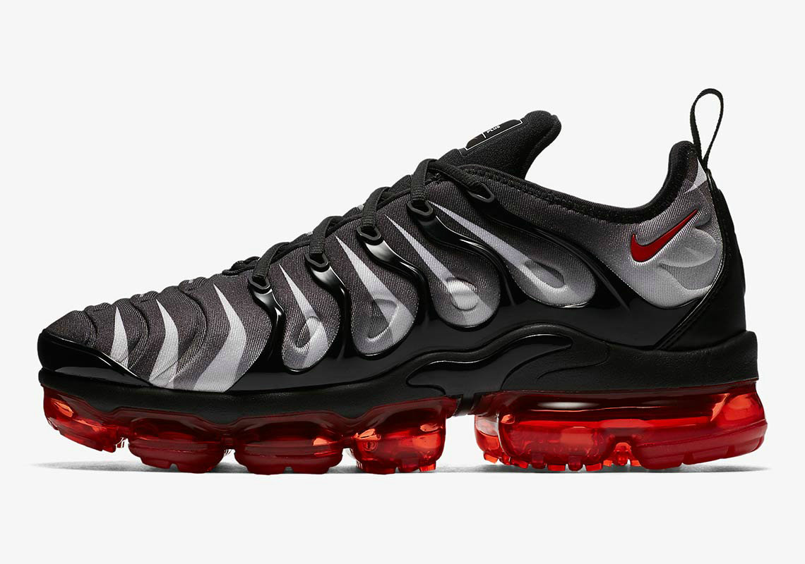 Wholesale Nike VaporMax Plus Black White Speed Red AQ8632-001-www.wholesaleflyknit.com