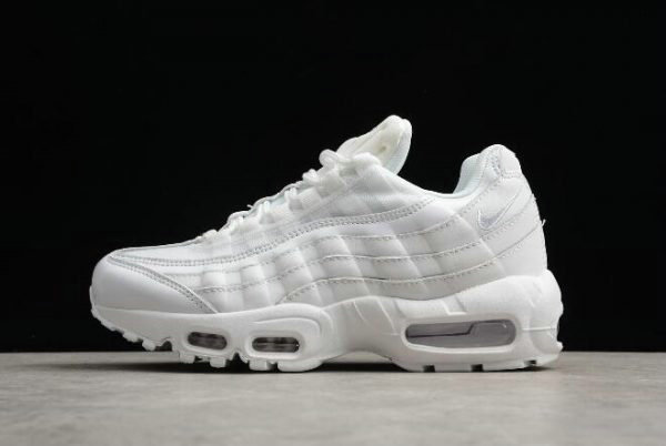 Cheap Wholesale Nike WMNS Air Max 95 OG Triple White 307960-108 Free Shipping - www.wholesaleflyknit.com