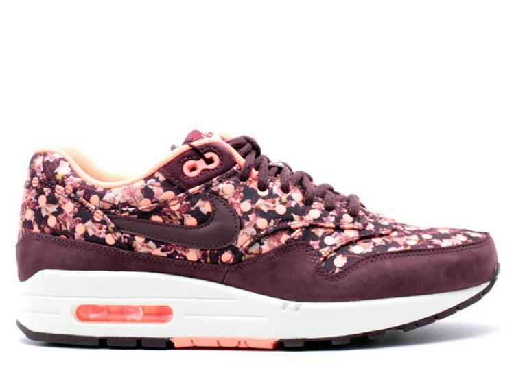 Cheap Wholesale Nike Wmns Air Max 1 Liberty Qs 540855-600 Deep Burgundy Bright Mango Sail Deep Burgundy - www.wholesaleflyknit.com