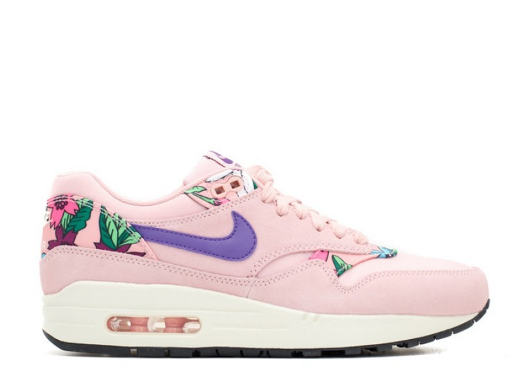 Cheap Wholesale Nike Wmns Air Max 1 Print Aloha Pack Pink Glaze Varsity Purple-Sail-Black 528898-601 - www.wholesaleflyknit.com