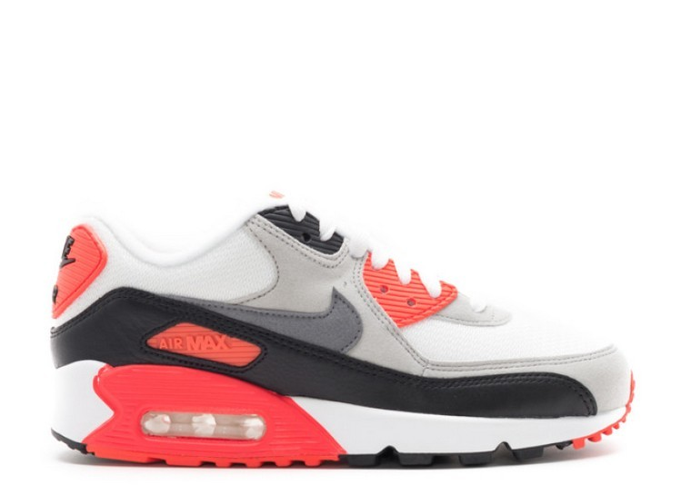 Cheap Wholesale Nike Wmns Air Max 90 Og Infrared 742455-100 White Neutral Grey Infrared Black - www.wholesaleflyknit.com
