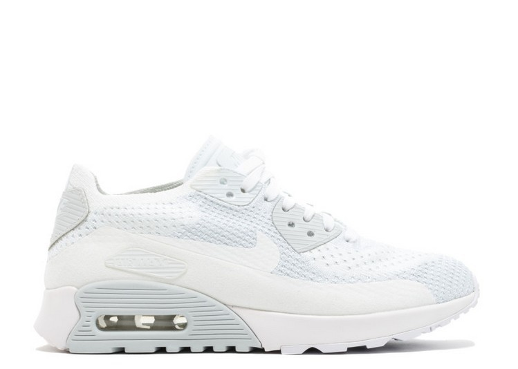 Cheap Wholesale Nike Wmns Air Max 90 Ultra 2.0 Flyknit 881109-104 White White-Pure Platinum - www.wholesaleflyknit.com