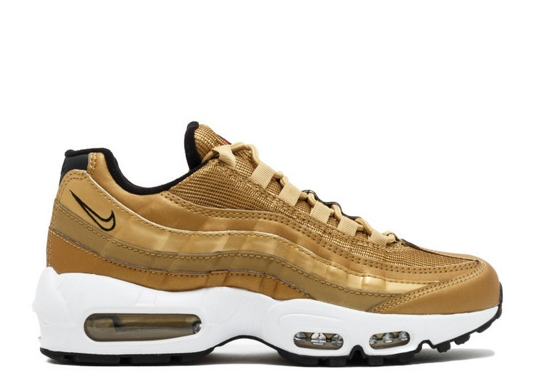 Cheap Wholesale Nike Wmns Air Max 95 Qs 814914-700 Metallic Gold Varsity Red-Black-White - www.wholesaleflyknit.com