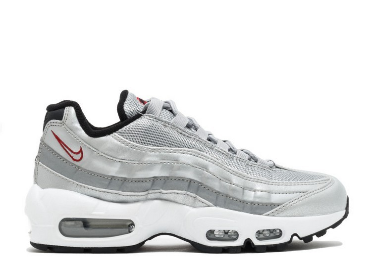 Cheap Wholesale Nike Wmns Air Max 95 Qs Silver Bullet 814914-002 Metallic Gold Varsity Red - www.wholesaleflyknit.com