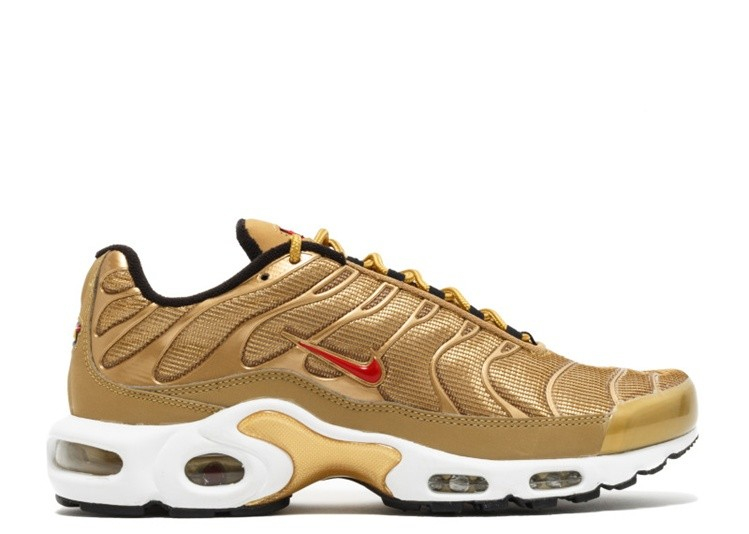 Cheap Wholesale Nike Wmns Air Max Plus Qs Metallic Gold Metallic Gold-University Red 887092-700 - www.wholesaleflyknit.com