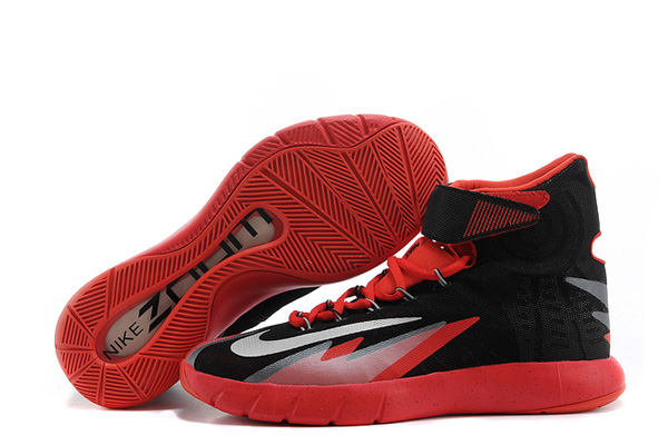 Wholesale Cheap Nike Zoom Hyperrev KYRIE IRVING Black Metallic Silver-Light Crimson For Sale - www.wholesaleflyknit.com