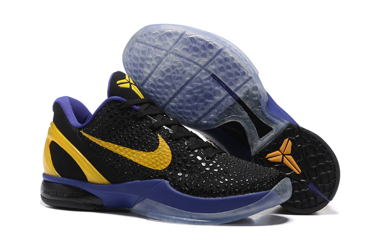 Wholesale Cheap Nike Zoom Kobe 6 Black Purple Yellow Basketball Shoes - www.wholesaleflyknit.com