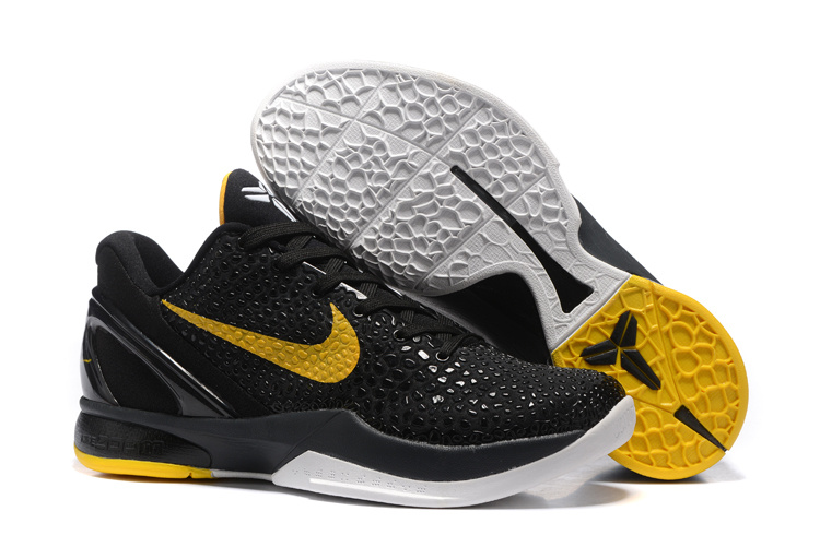 Wholesale Cheap Nike Zoom Kobe 6 Black Yellow Basketball Shoes - www.wholesaleflyknit.com