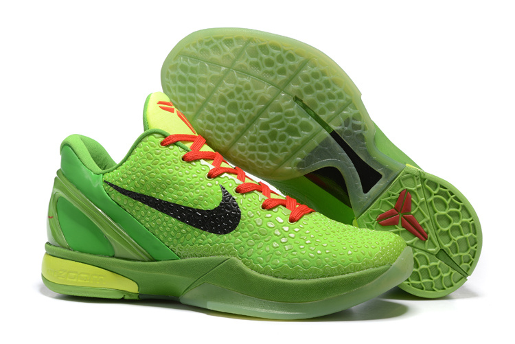 Wholesale Cheap Nike Zoom Kobe 6 Grinch Christmas Green Mamba Basketball Shoes - www.wholesaleflyknit.com