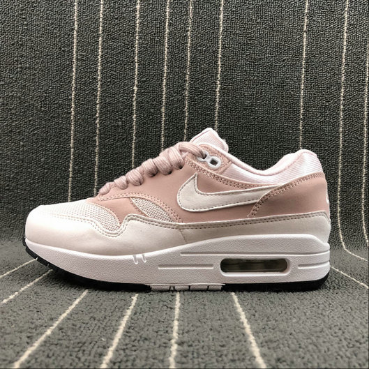 Wholesale NikeAir Max 1 87 Womens 319986-607 Barely Rose White A Peine Blanc-www.wholesaleflyknit.com