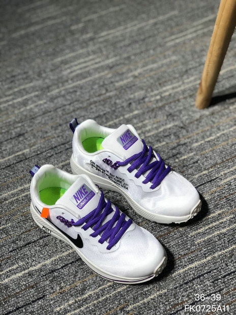 OFF WHITE x Wholesale Nike AIR ZOOM STRUCTURE 21 Mens Womens White Black Purple On www.wholesaleoffwhite.com