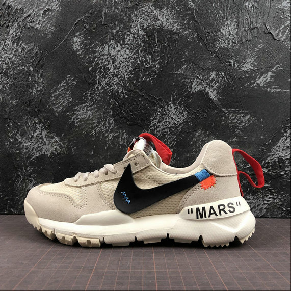 OFF-White X Boys Nike Craft Mars Yard TS NASA 2.0 Beige Red Rouge AA2261-100 - www.wholesaleflyknit.com