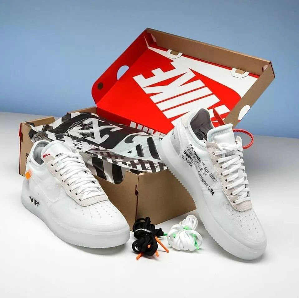 OFF-White x Air Force 1 low AO4606-100 Womens White- www.wholesaleflyknit.com