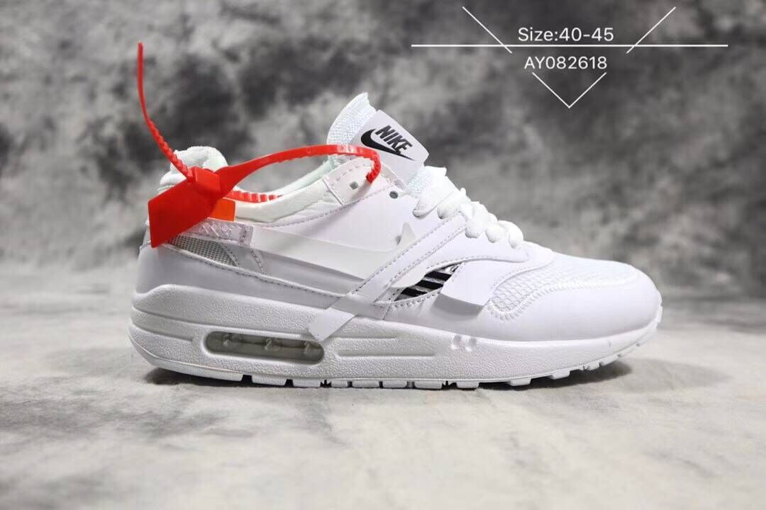 Off-White x Nike Air Max 87 1 Triple White - www.wholesaleflyknit.com
