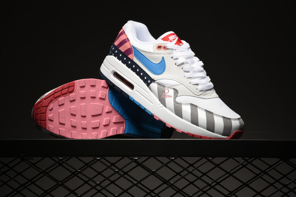 Piet Parra x Wholesale Nike Air Max 1 White Multi White Pink Blue- www.wholesaleflyknit.com