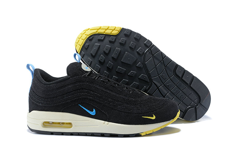 Wholesale Cheap Sean Wotherspoon x Nike Air Max 1 97 VF Sneaker Yellow Blue Black White - www.wholesaleflyknit.com