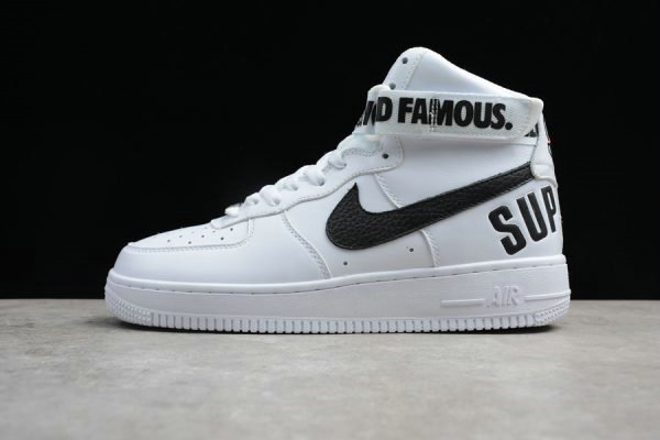 Cheap Wholesale Supreme x Nike Air Force 1 High White Black For Sale - www.wholesaleflyknit.com