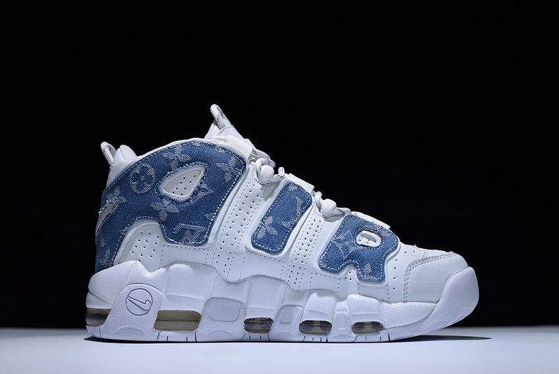 Wholesale Cheap Supreme x WMNS Nike Air More Uptempo Denim White Blue For Sale - www.wholesaleflyknit.com