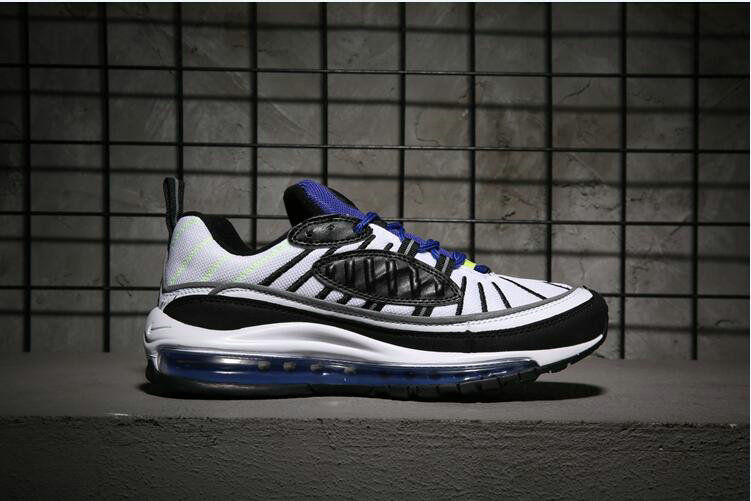 44b0373e0e Wholesale The Nike Air Max 98 Returns In A Contrasting White And Black  Purple-www