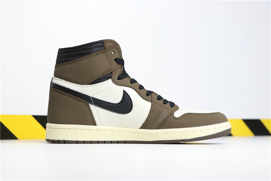 Travis Scott x Jordan 1 Backwards Swoosh Mocha CD4487-100 - www.wholesaleflyknit.com