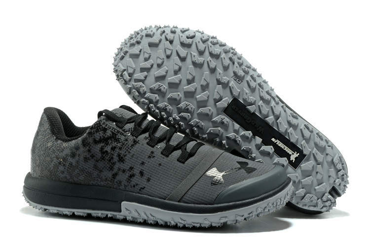 Wholesale Cheap UA Fat Tire Low Grey Black Running Shoes For Sale - www.wholesaleflyknit.com