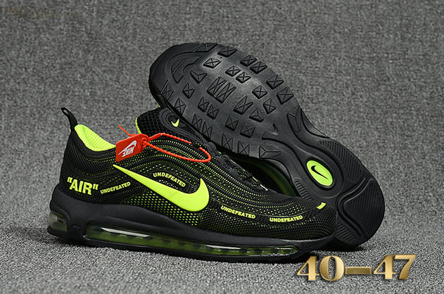 Wholesale Cheap Undefeated x Nike Air Max 97 Fluorescent Green Black Air Max 97 - www.wholesaleflyknit.com