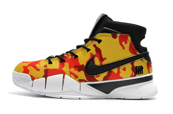 Cheap Wholesale Undefeated x Nike Zoom Kobe 1 Protro Yellow Camo Mens Shoes Free Shipping - www.wholesaleflyknit.com