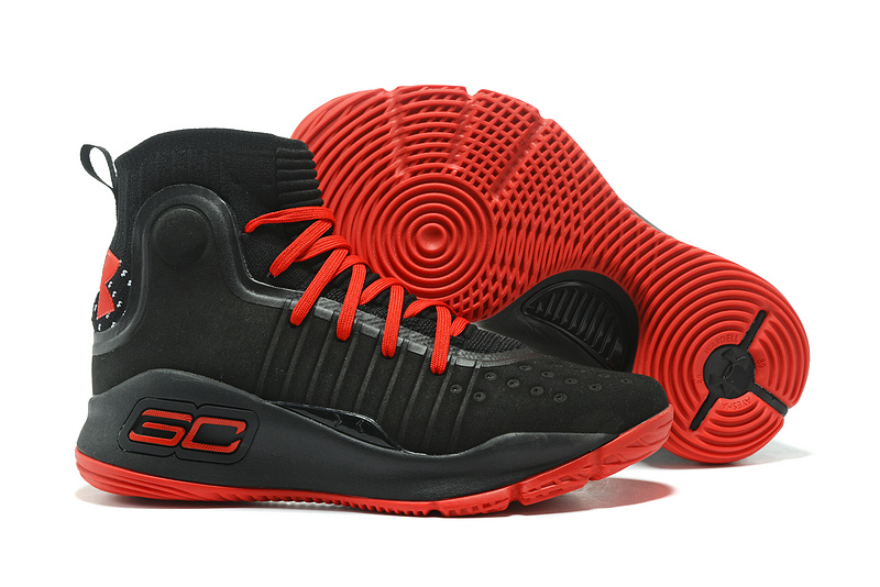 huge discount 3962a f318c Wholesale Cheap Under Armour Curry 4 Low Red Black For Sale ...