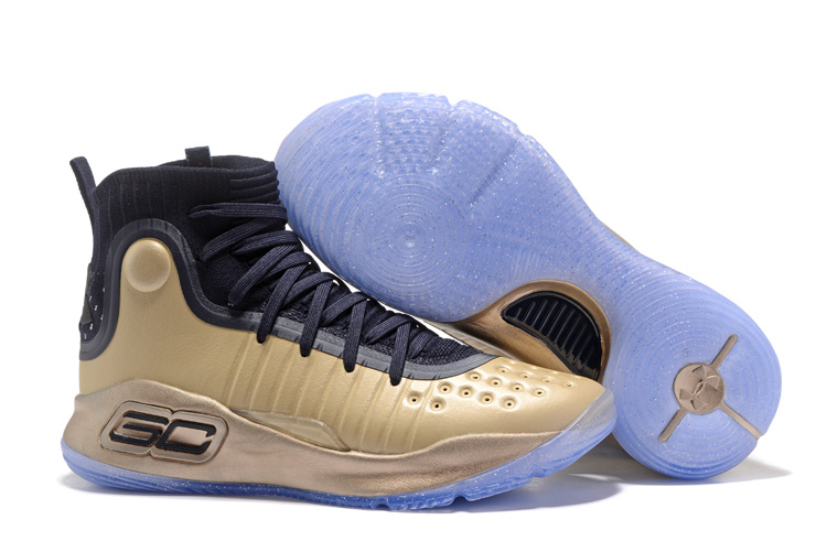 Wholesale Cheap Under Armour Curry 4 Championship Parade Gold Black 2017 For Sale - www.wholesaleflyknit.com