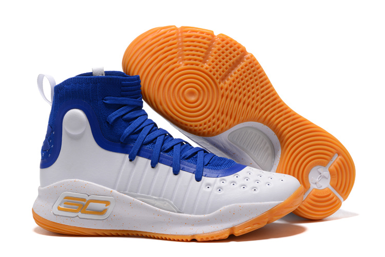 Wholesale Cheap Under Armour Curry 4 Royal Blue White-Gum 2017 For Sale - www.wholesaleflyknit.com