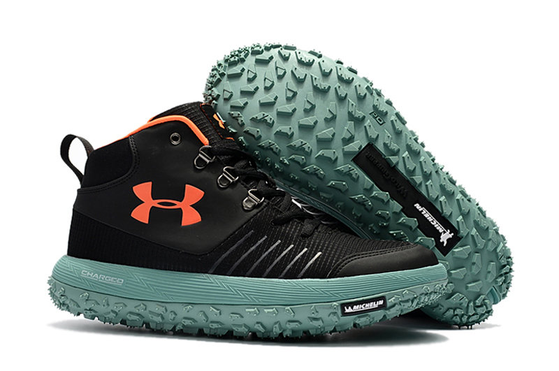 Wholesale Cheap Under Armour UA Fat Tire GTX Black Orange Green Trail Running Shoes For Sale - www.wholesaleflyknit.com